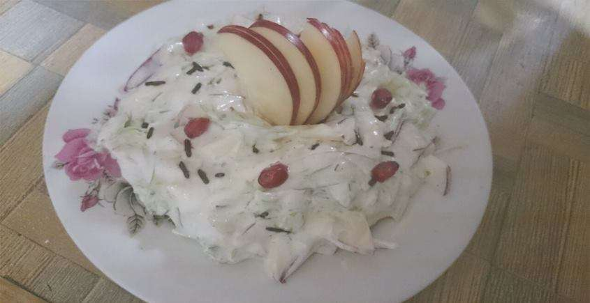 Apple Cabbage Salad With Mayonnaise