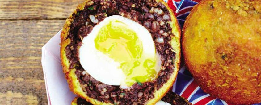 BLACK PUDDING SCOTCH EGGS with Mayonnaise