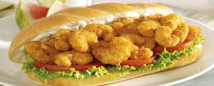 CAJUN SHRIMP PO' BOY Traditional Sandwiches