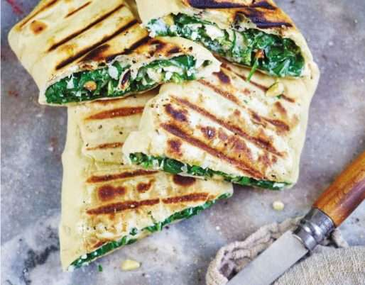 GOZLEME WITH SPINACH, FETA AND PINENUTS