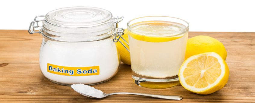 Kitchen cleaning with baking soda