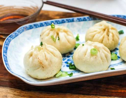 STEAMED JIAOZI STUFFED WITH PORK AND CABBAGE