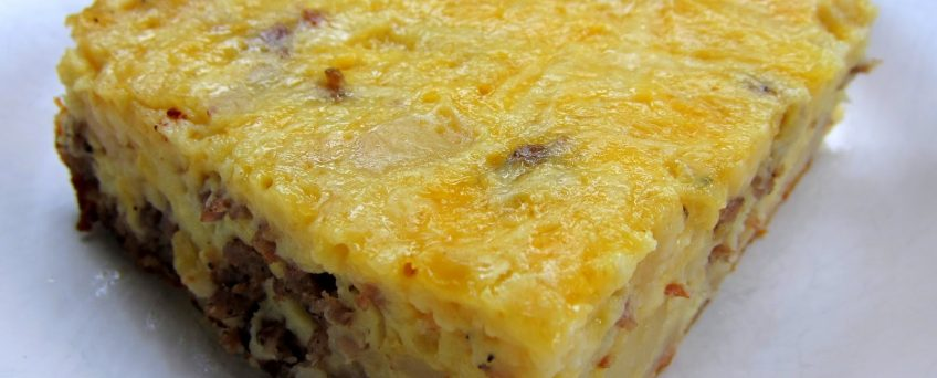 Baked Three Cheese and Egg Casserole