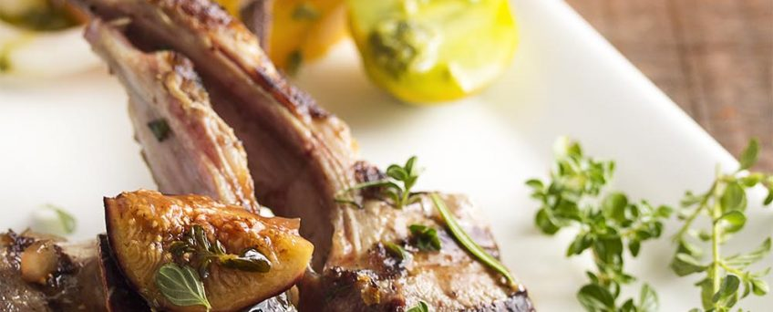 Crispy Lamb Chops with Thyme Sauce