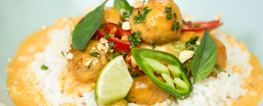 Curried Coconut Chicken Balls