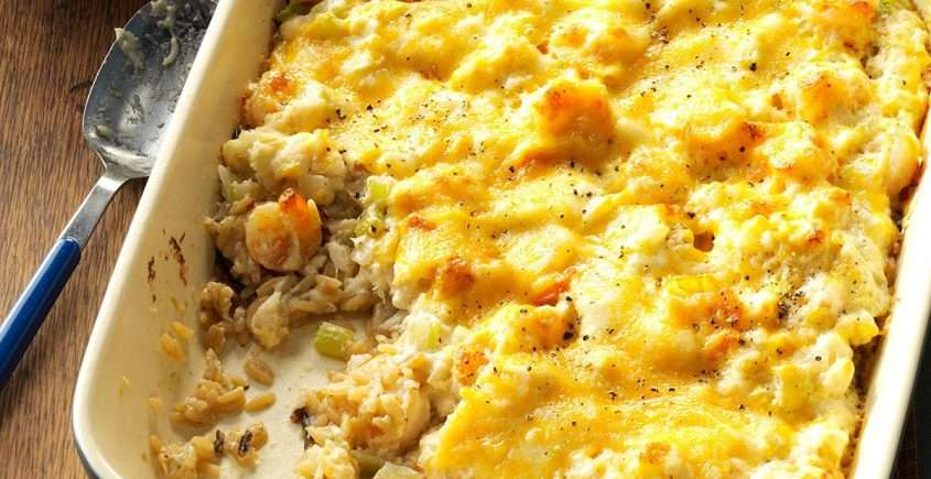 Easy Crabmeat Casserole