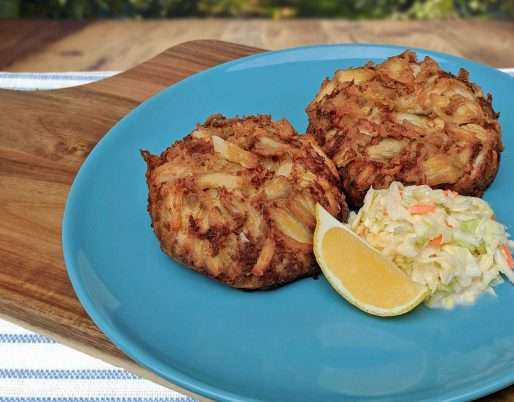 Healthier Broiled Crab Cakes without Filler