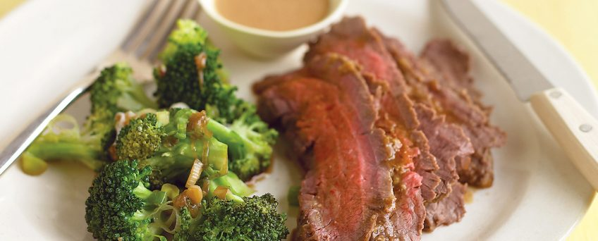 Flank Steak with Peanut Sauce