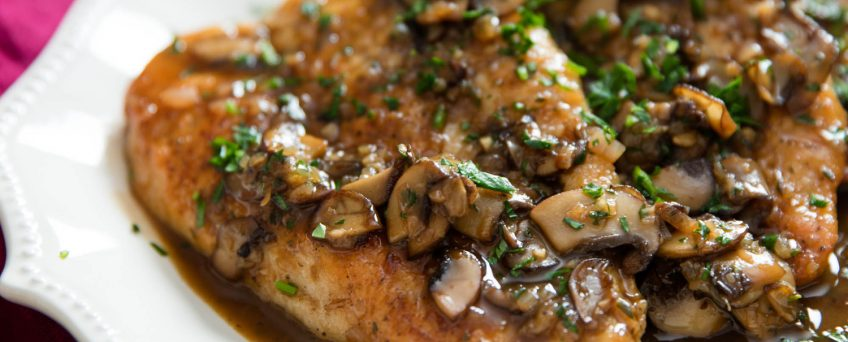 Golden Mushroom Chicken Thighs