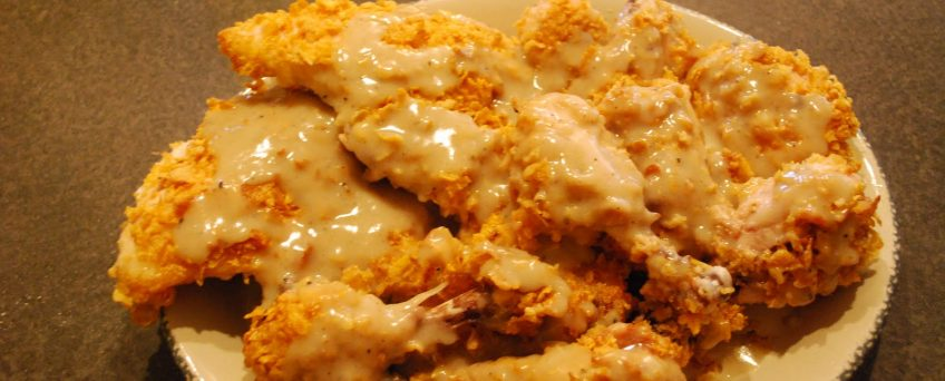 Oven Fried Chicken with Gravy