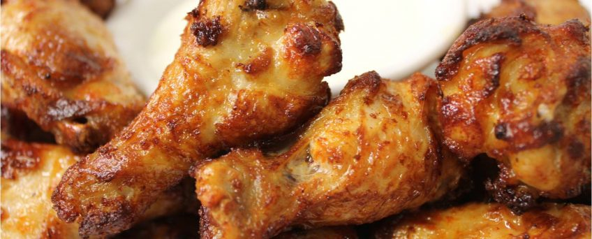Parmesan Chicken Wings Oreganata