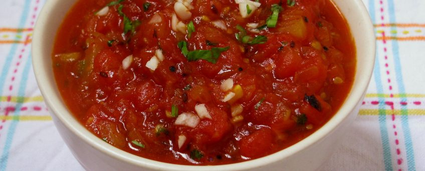 Plum Tomato Chutney with Mustard Seeds Tamatar Sarso ki Chutney
